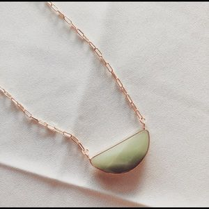 Jewelry - NWT Green Aventurine Cable Necklace